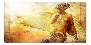 Startonight nachtleuchtendes Leinwandbild Engel im Licht 120 cm x 60 cm    Kundenbewertung: