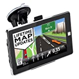 MingAo GPS Navigator System with Lifetime Maps,Car GPS navigation 7 inch Touch Screen Voice Reminding Vehicle GPS Navigator 8GB
