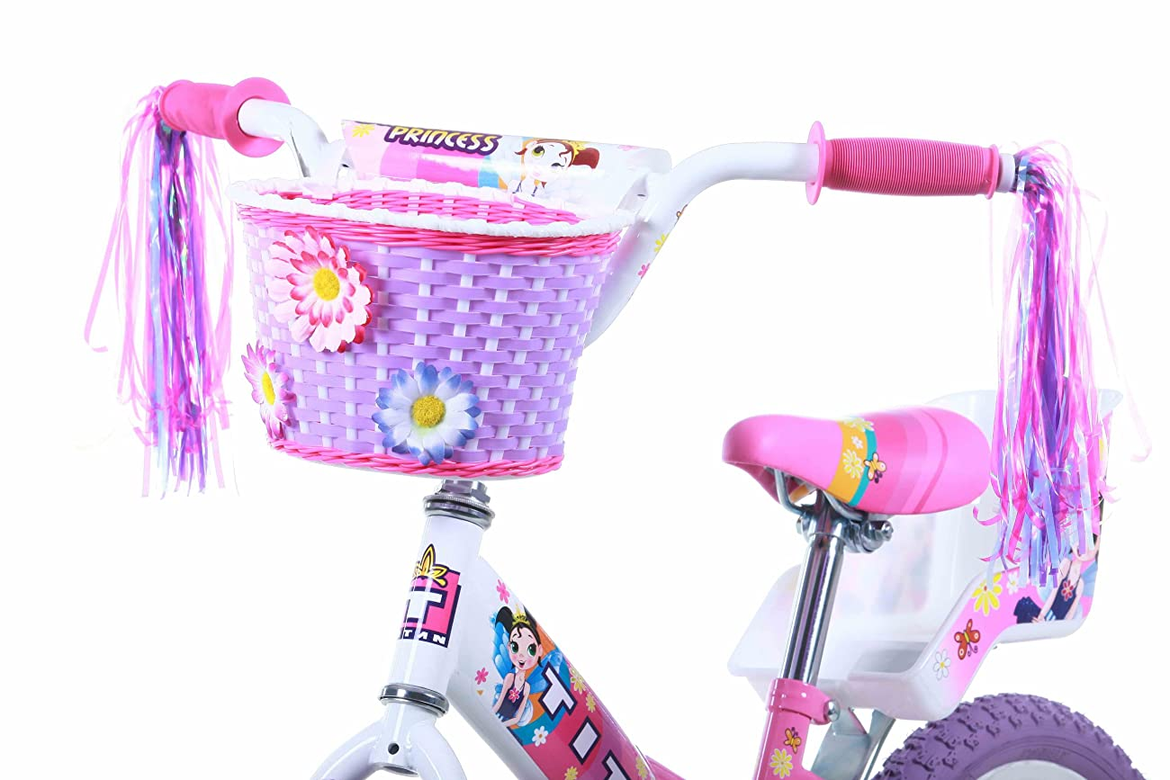 Titan Girl's Flower Princess BMX Bike, Pink, 16-Inch 2