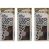 Stampers Anonymous THS052 Gears Tim Holtz Layered Stencil, 4.125