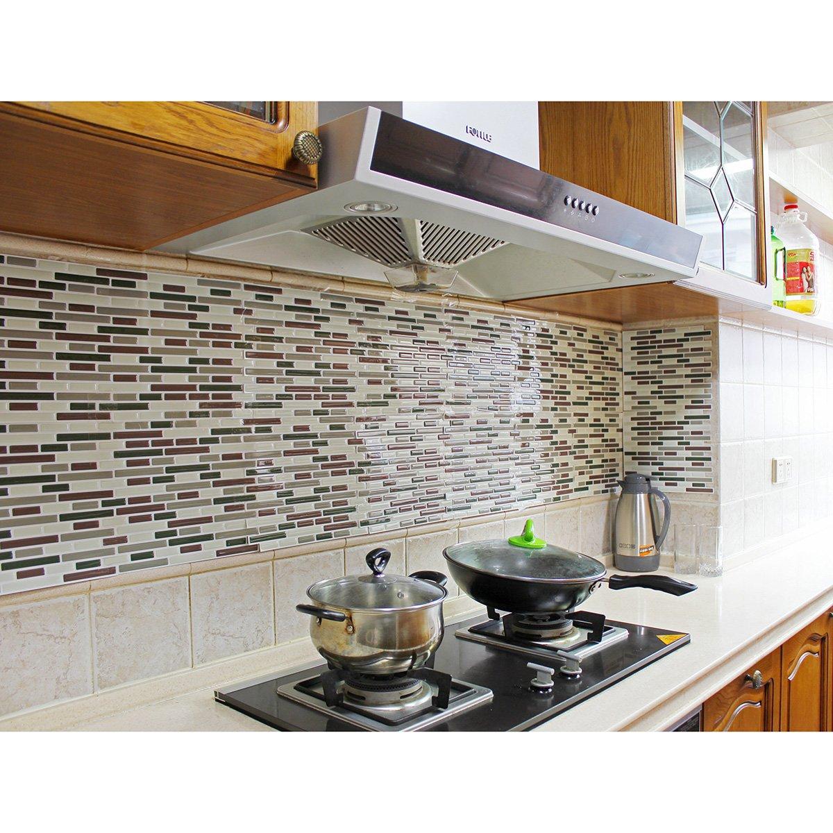 Easy Kitchen Backsplash Makeover: Fancy-fix Vinyl Peel Stick Decorative Backsplash Kitchen