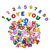 [6 Pack]Foam Glitter Stickers Letter Stickers Self Adhesive Letters Alphabet A-Z and Numbers 1-9 Stickers,Assorted Colors (Color: style 3)