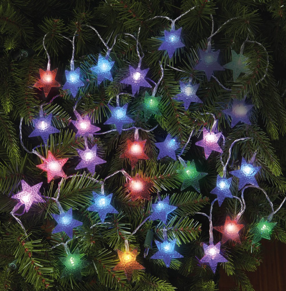 Color Changing Holiday Star String Light Set Star