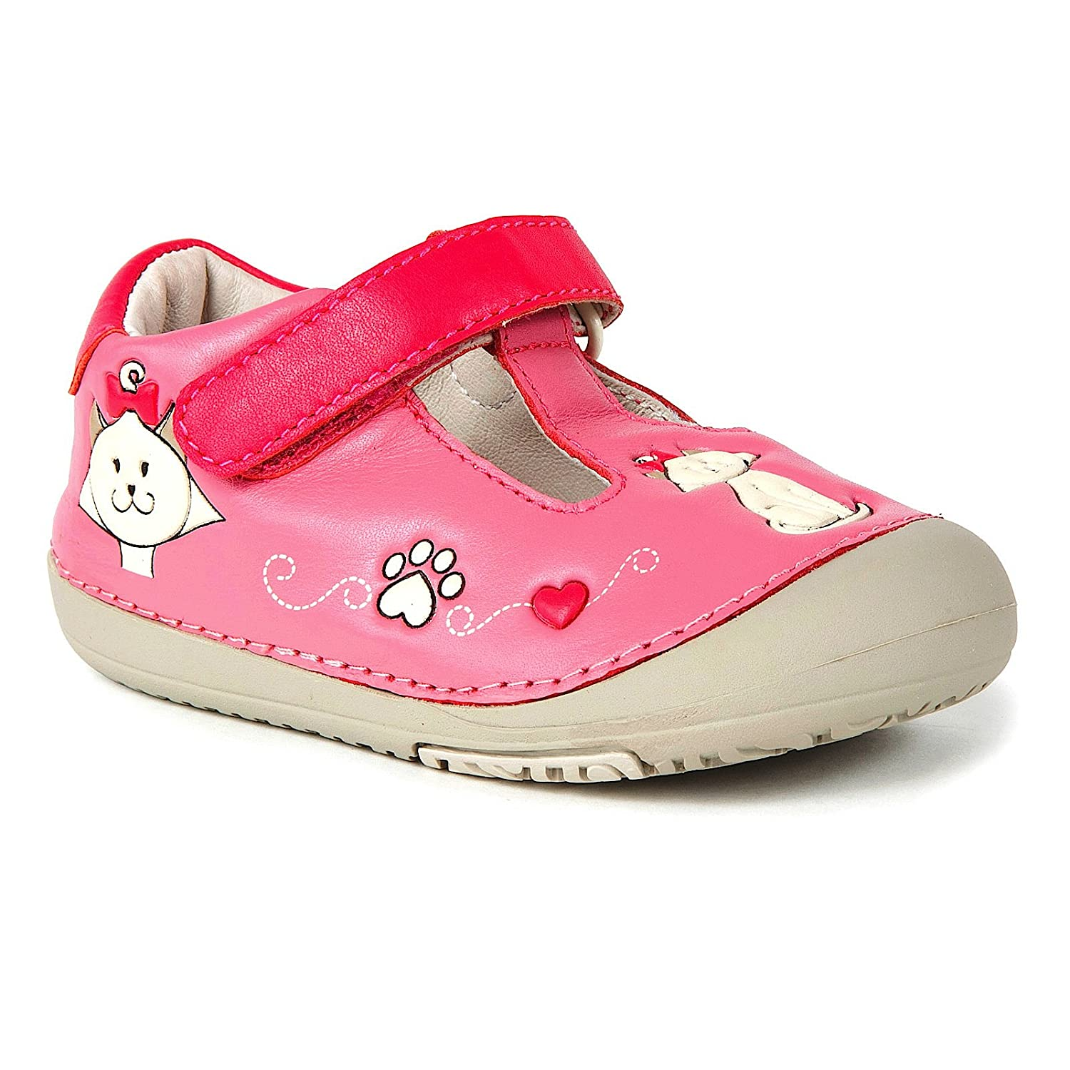 Momo Baby First Walker/Toddler Kitty Cat T-Strap Leather Shoes momo xuhaoying 009