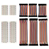 Breadboard Kit and Jumper Wires for Arduino By Garloy,4 Pieces Solderless Prototyping Circuit Test Board with Adhesive Tape and 240 Pieces Bridle Wires