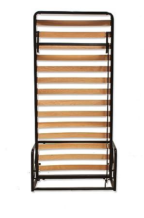 Letto a Scomparsa - Verticale singolo 90cm x 200cm (Letto Estraibile, Letto Pieghevole, Letto Richiudibile)