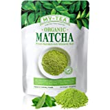My Tea- Matcha Green Tea Powder Grown From Nutrient-Rich Volcanic Soil USDA Organic Japanese Premium Culinary Grade Green Tea Antioxidants | Pure Non-GMO | Vegan 100 grams Value Pack
