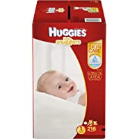 Huggies Little Snugglers Size 1 216 Count Baby Diapers (One Month Supply)