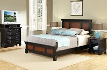 Home Styles The Aspen Collection Queen Bed, Media Chest and Night Stand