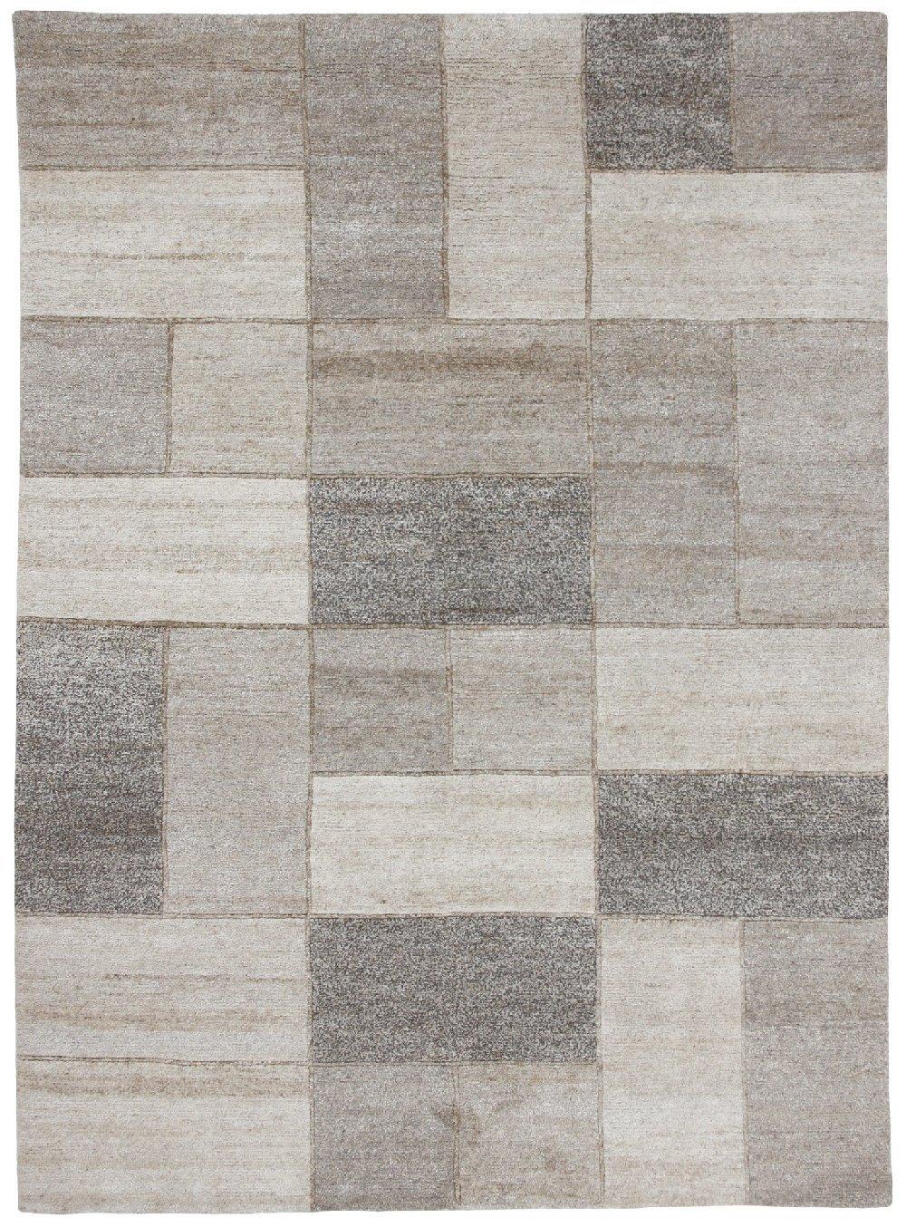 """TEPPICHWELT SONA-LUX Nepal Teppich handgeknüpft natur """"Größe auswählen"""" 70 x 140 cm"""
