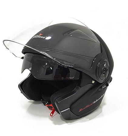 Scotland 120007-nr-m Casque Force 03,1 Moto / Scooter avec Visière Double, Noir