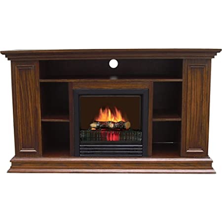 This Unit Offers An Electric Fireplace And Media Center In One Package And  Even Features A Space For Rear Cord Management. It Boasts A Durable MDF  Wood ...