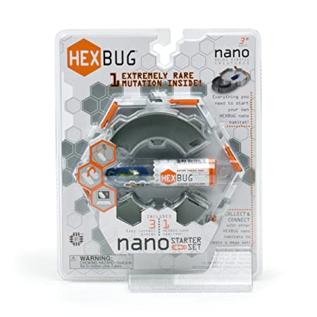 Hexbug – Nano – Coffret Initiation – 3 Eléments + 1 Robot Insecte 2cm (Import Royaume Uni)