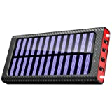 Portable Charger 24000mAh Power Bank High-Speed Charging Huge Capacity External Battery Packs Chargers with 2 Inputs& 3 Outputs Portable Phone Charger for (Solar Power Bank) (Color: Solar Power Bank)