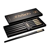 Foster (Goldage) 5-Pairs Fiberglass Dishwasher-safe Chopsticks (LONG VERSION Auspicious Cloud - Gold & Silver)