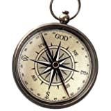 God is My Guide Compass with Display Stand--Unique | Uplifting | Heavenly gift of faith.