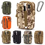 Lightbare Tactical Molle Pouch Multipurpose EDC Waist Bag Pack, Outdoor Men Compact Gadget Utility Belt with Cell Phone Holster Holder (Color: Desert Camo)