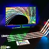 LED TV Backlight,ViLSOM Powered USB LED Strip Lights 6.56Ft for 40 to 60 inch HDTV - Bias Lighting with 24keys Romote Control RGB Lighting (Color: Tv Backlight Kit)