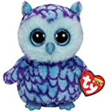 Ty Beanie Boos Plush - Oscar the Owl 15cm (Color: Purple, Tamaño: 6