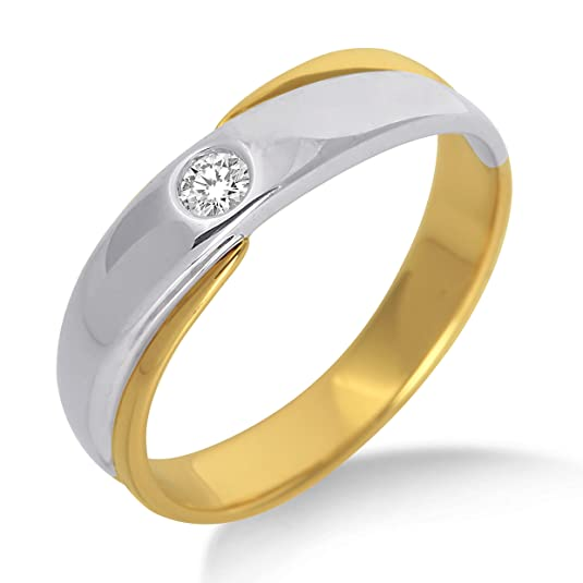 Miore M9003 Diamond Ring, 9 ct Two-Colour Gold, Diamond Solitaire Ring