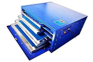 Techtongda 6 Color Full Set Screen Printing Kit 6 Color 6 Station Screen Printing Machine Screen Platen Rotating Screen Printing Press