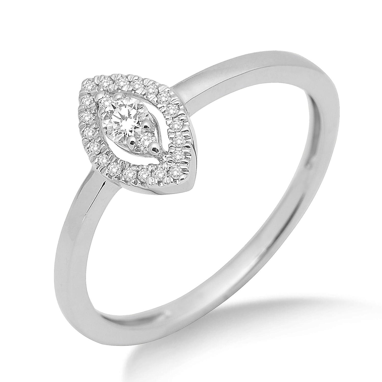 Miore Damen-Ring 750 Weißgold mit Brillanten MF8002RM bestellen