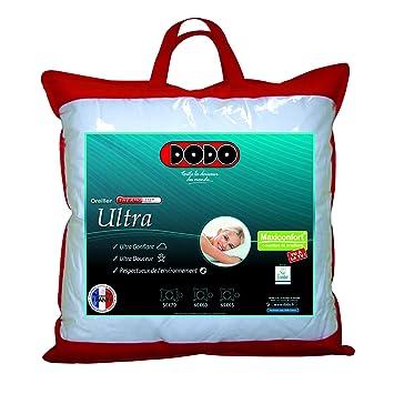 6f50a8d3e Dodo Maxiconfort Ultra Oreiller Uni Classique Blanc 60 x 60 cm Synthétique  Medium    Affordable