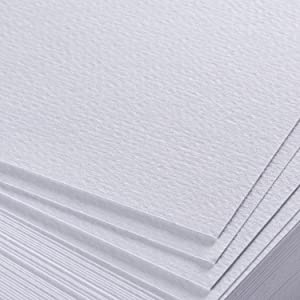 3 Pack - Total of 108 Sheets of Watercolor Paper (11.7 x 8.3) - Heavy Stock (98lb), 100% Cotton, Loose White Sheets. Perfect for Kids, Students & Adults