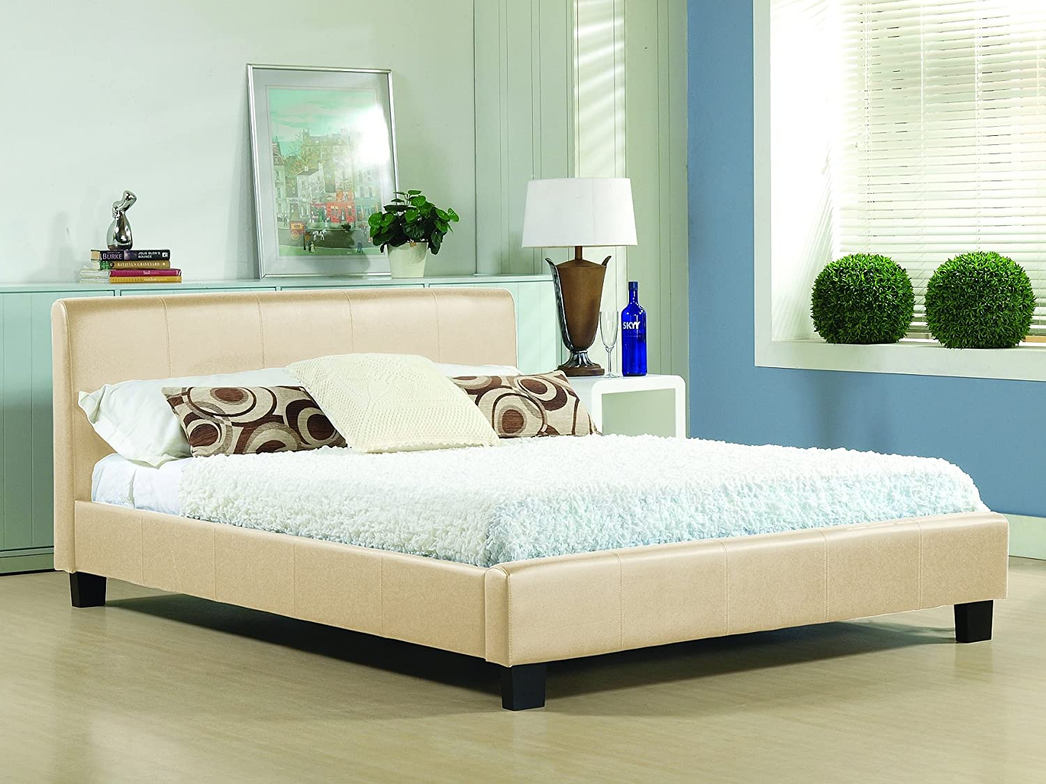 Single Leather Sleigh Bed Single Leather Bed Frame