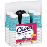 50-Count Chinet Comfort Cup 16-Ounce Cups Lids (Assorted Colors)
