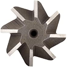 "Niagara Cutter N12646 Single Angle Shank Type Chamfering Cutter, High Speed Steel, Uncoated (Bright), Weldon Shank, 45 Degree Angle, 1-1/2"" Cutter Diameter, 12 Tooth, 1/2"" Width"