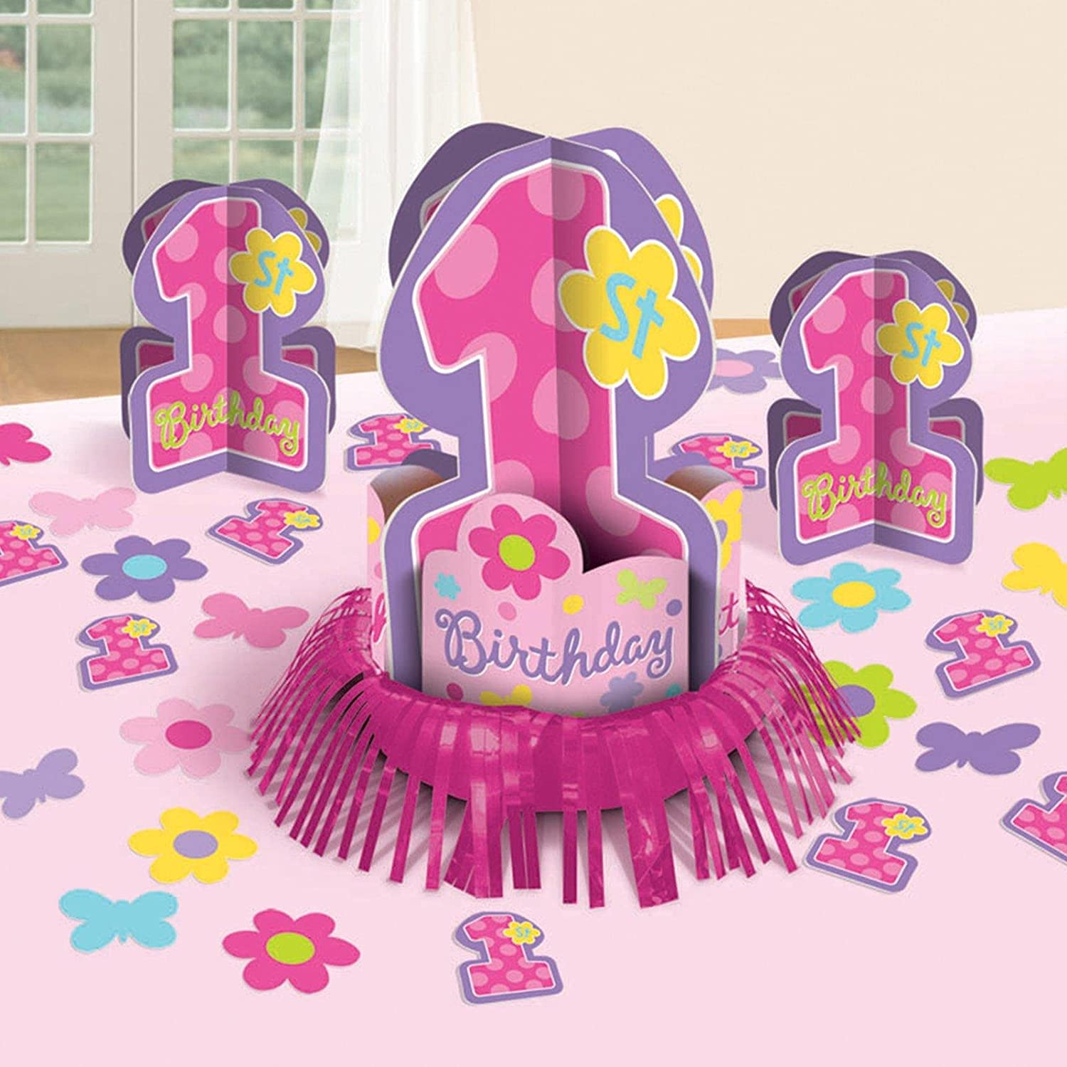 Amscan – One-derful Birthday Girl Table Decorating Kit – Standard