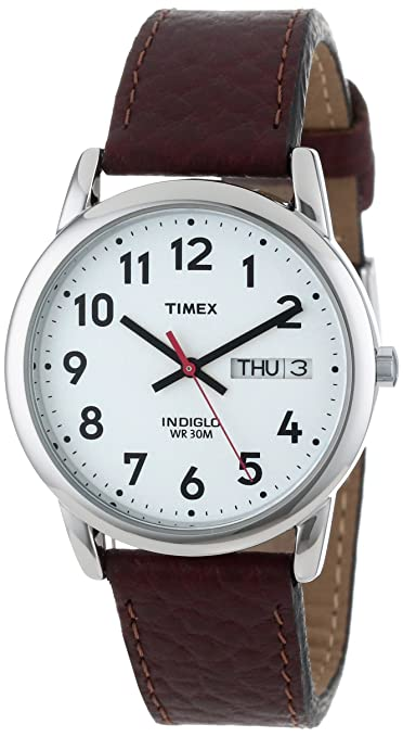 Timex-Men-s-Brown-Watch-With-White-Dial