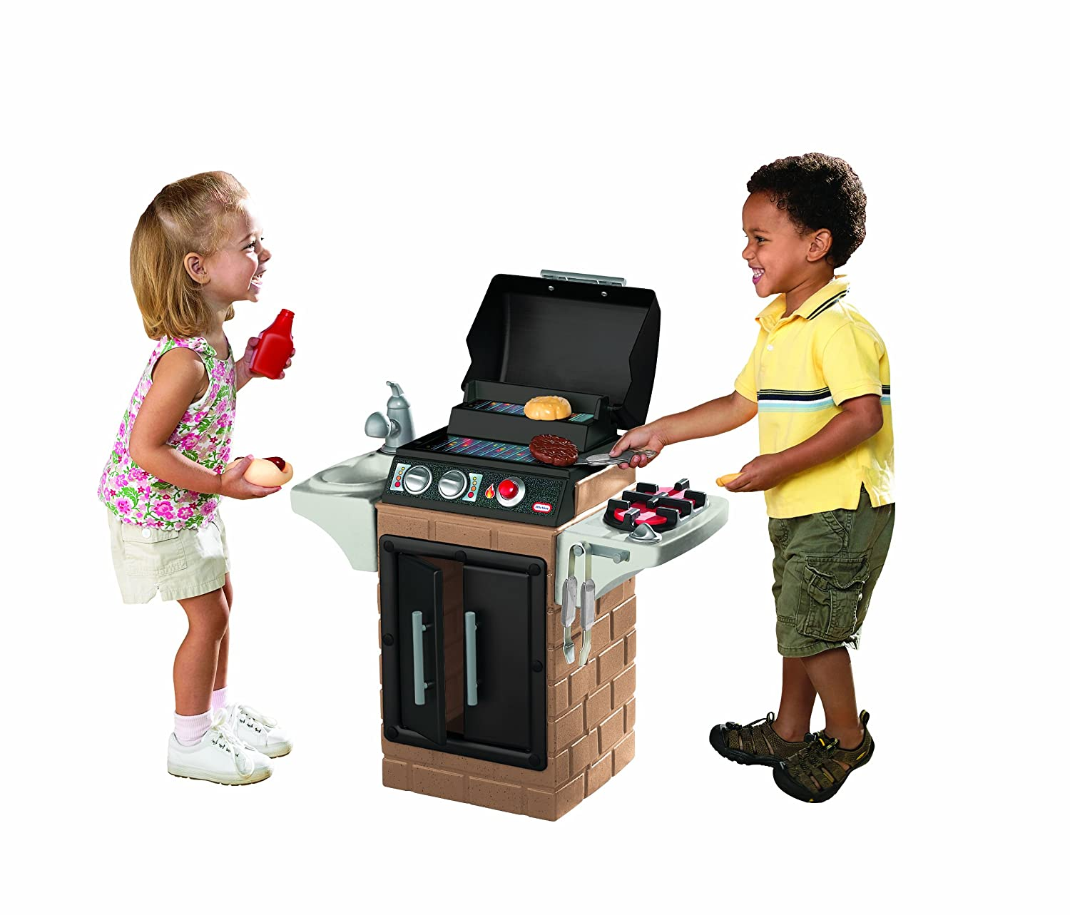 An Image of Little Tikes Get Out n' Grill Kitchen Set