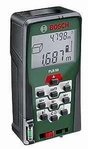Bosch PLR 50 LaserEntfernungsmesser + Schutztasche (0,0550 m Messbereich, +/ 2 mm Messgenauigkeit)  BaumarktKundenbewertung und Beschreibung