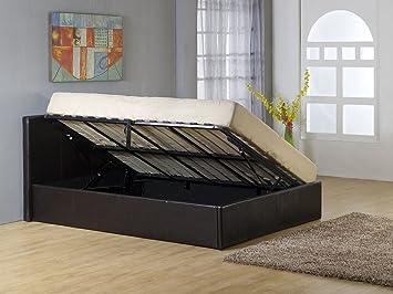 Lit double avec coffre rangement - Lit futon avec rangement ...