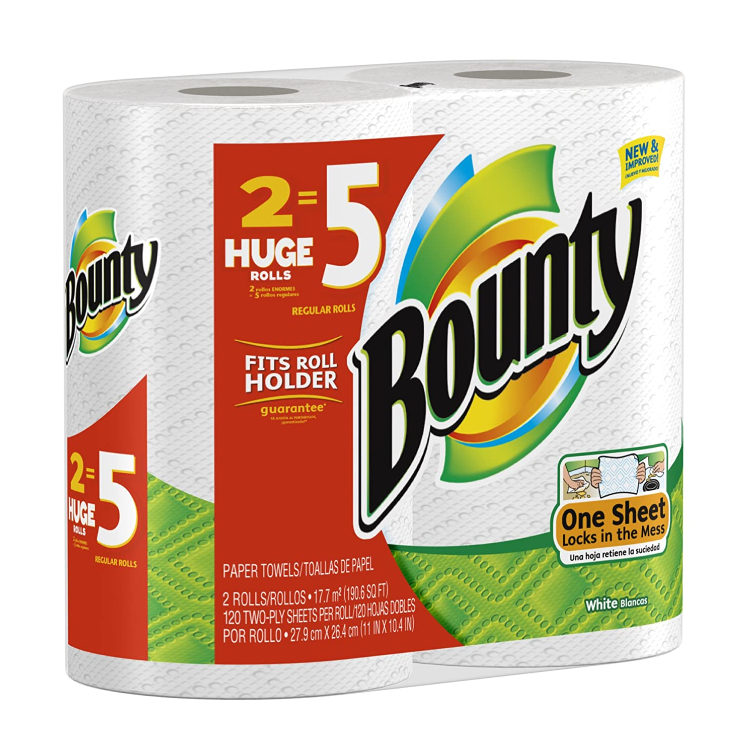 Bounty Full Sheet Paper Towels Giant Rolls: Bounty Paper Towels Huge Size 8 Count