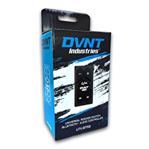 Waterproof UTV Powersports Accessories - Universal Rocker Switch Bluetooth Receiver Audio Controller with AUX Input - UTV-BTRS