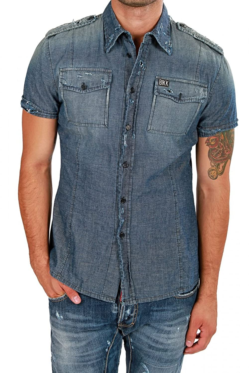 где купить Dirk Bikkembergs Short Sleeve Shirt , Color: Blue по лучшей цене