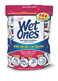 Wet Ones Singles Antibacterial Cleansing Wipes, Fresh Scent, 144 Count