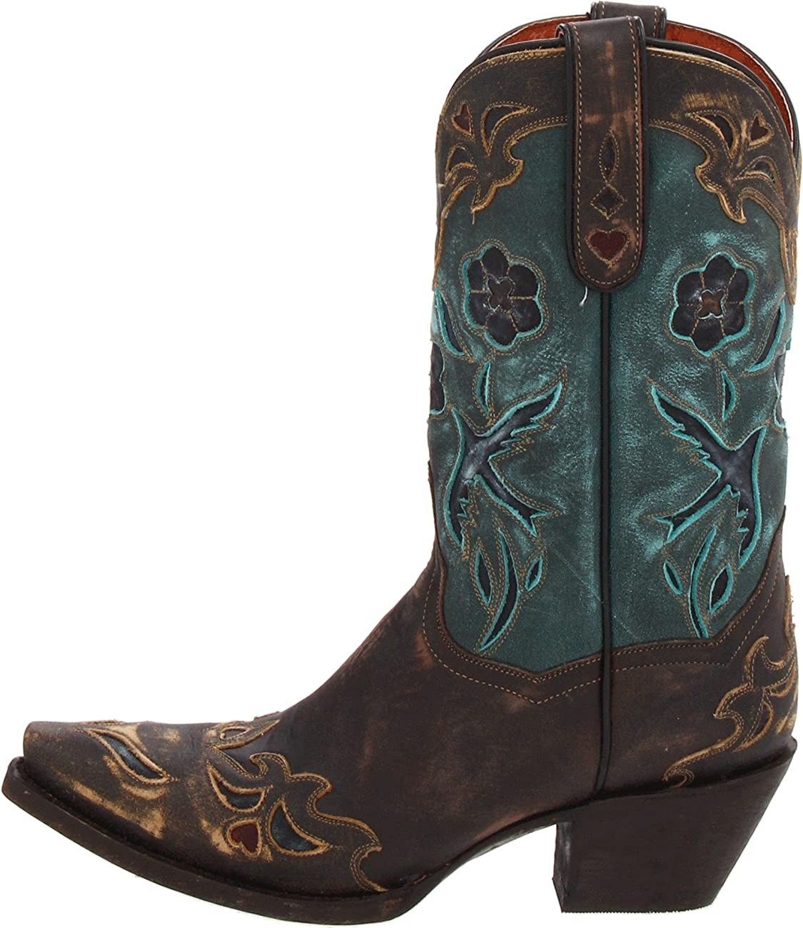 Dan Post Women's Vintage Blue Bird Western Boot 6