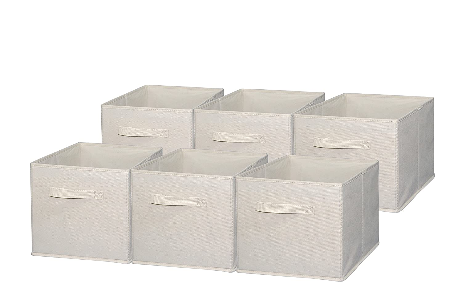 sodynee foldable cloth storage cube basket bins organizer containers drawers 6 ebay. Black Bedroom Furniture Sets. Home Design Ideas