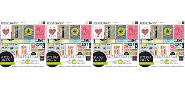 me & my BIG ideas Pocket Pages Scrapbook Page Kit, Family Time, 12-Inch by 12-Inch (F?ur Pa?k) (Tamaño: F?ur Pa?k)