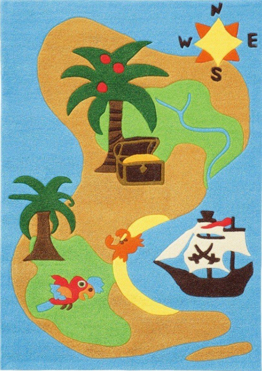 The Playful Pirateninsel 110*160cm Kinderteppich arte espina 402652  Überprüfung und Beschreibung