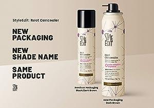 Style Edit Root Concealer, Dark Brown, 2 oz. (Color: Dark Brown, Tamaño: 1 Pack)
