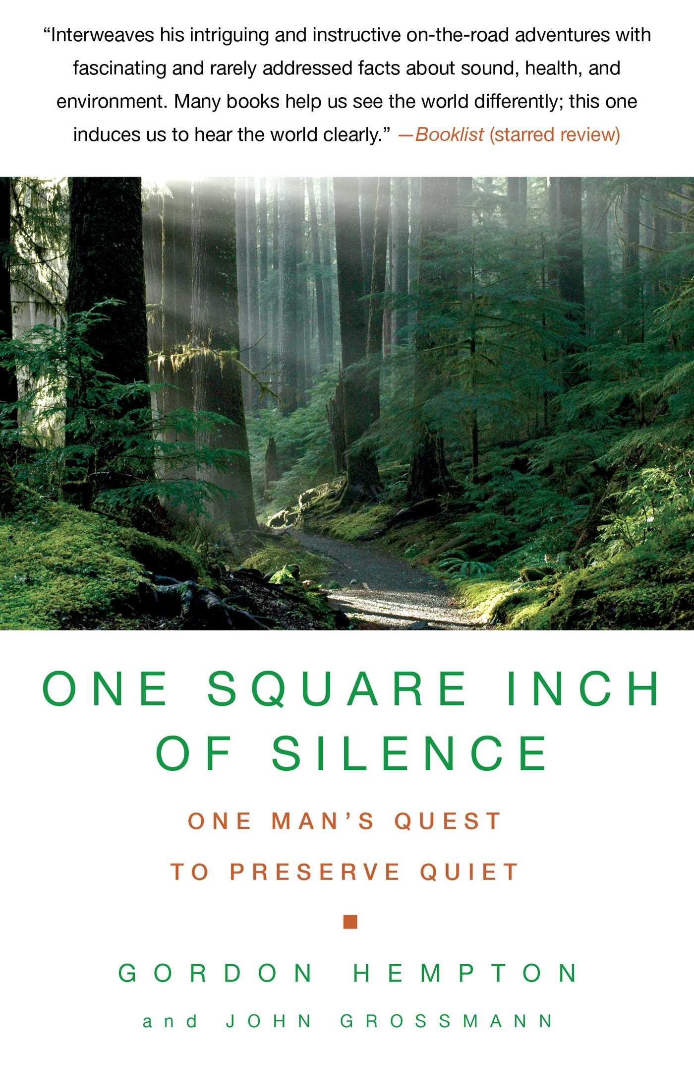 Buy One Square Inch Of Silence: One Man's Quest To Preserve Quiet Book  Online At Low Prices In India  One Square Inch Of Silence: One Man's Quest  To