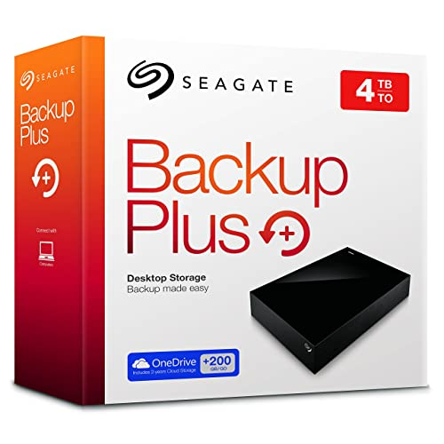 Seagate Backup Plus Desktop STDT4000200 - Disco duro externo de 4 TB, color negro