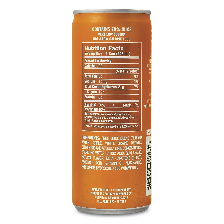 Sparkling Juice Brands Izze Fortified Sparkling Juice