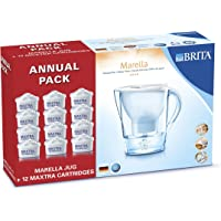 BRITA Marella Cool Water Filter Jug with 12 Cartridges (White)