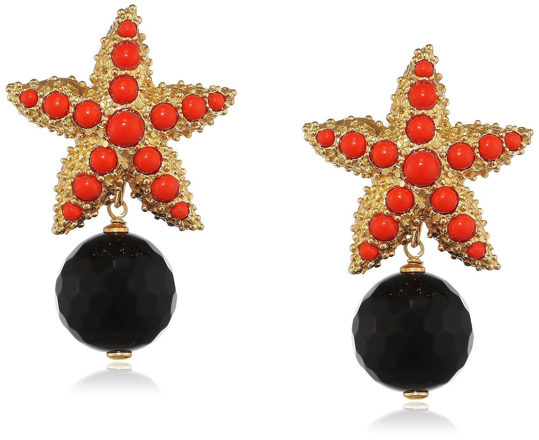 Misis Damen-Ohrringe Moorea 925, Silber, Vergoldet, Achat Rundschliff rot Onyx 4 cm – OR09169RO jetzt kaufen